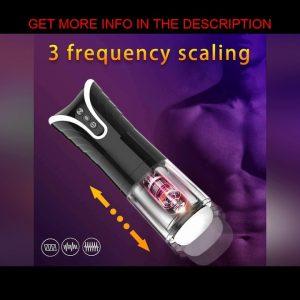 BEST Automatic Men Masturbator Cup Electric Telescopic Vibrators Pocket Vagina Real Pussy Adult Ero