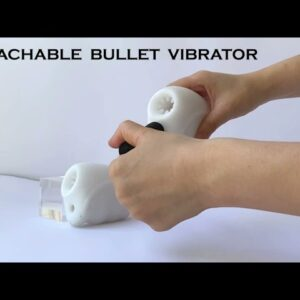 Acmeros Open-Ended Vibrating Male Masturbator Realistic Stroker with Detachable Bullet Vibrator